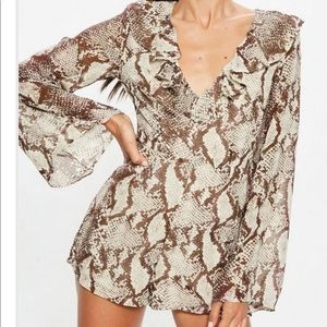 Snake print romper / used once only